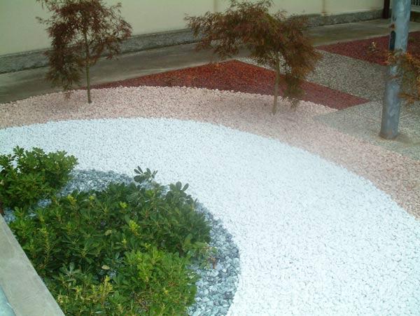 Particolare decorazione giardino - Idee giardino senza erba ...